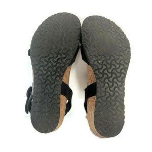 Birkenstock Shoes - Papillio Birkenstock Lana Black Leather Thin Strap